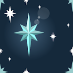 space stars background tile