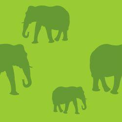 green elephants animals pattern background tile