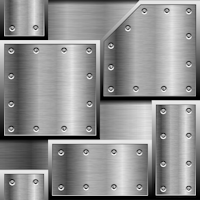 grey metal plates repeating pattern background tile