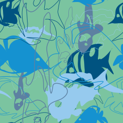 fish repeating pattern background tile